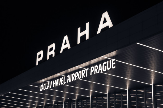 night view international airport prague czech republic 140008 177